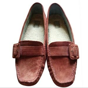 UGG GG Australia Rose Driving Loafers with Buckle